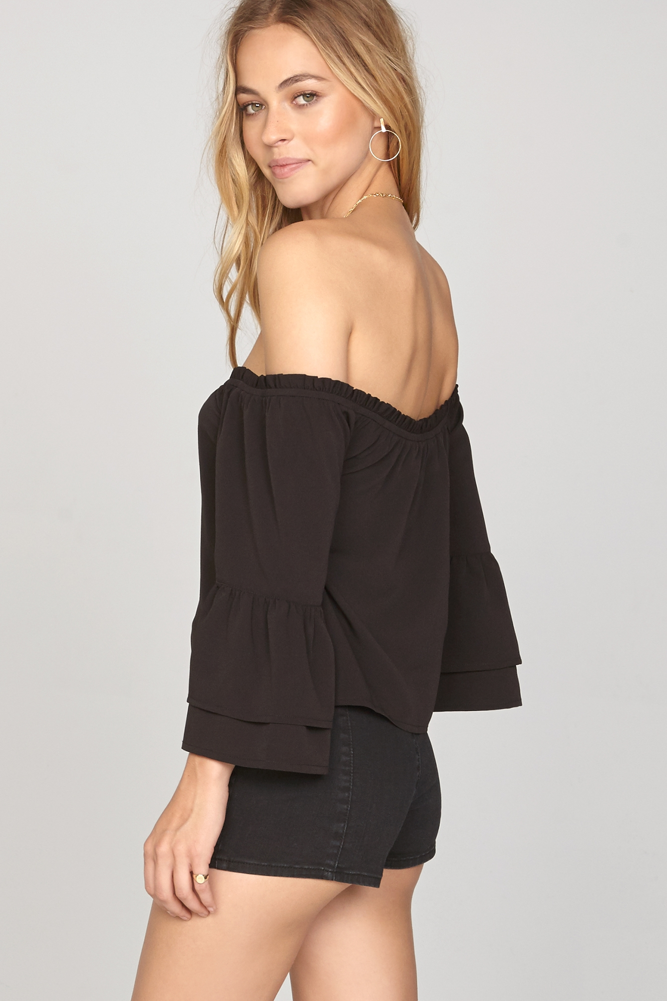 Chapelle Off The Shoulder Woven Top