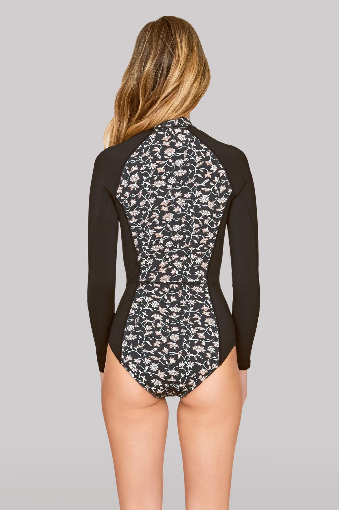 Ciao Long Sleeve Neoprene Cheeky One Piece