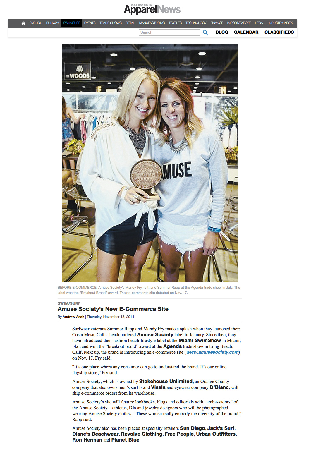 California Apparel News | Nov 2014
